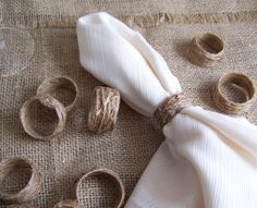 46 best napkin rings images on pinterest how to fold napkins 12 napkin rings rustic jute twine wedding or by sunflowersplus 800 solutioingenieria Gallery
