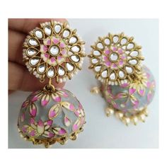 Indian Jewelry Sets, Indian Wedding Jewelry, Bridal Jewelry, Indian Bridal, Jewelry Party, Cute Jewelry, Jewelry Accessories, Jewelry Design, Jumka Earrings