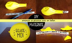 DIY annoncer sa grossesse-1 Reveal Parties, Gender Reveal, Announcement, Baby Kids, Pregnancy, Diy, Couture, Party, Crafts