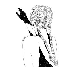 "289 Likes, 13 Comments - ✖ Coco | Illustrator ✖ (@dvrkshines) on Instagram: ""You left pieces of your soul inside of me. #braids #galaxy #universe #soulmates #illustration…"""