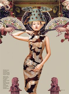 Montase Chinoiserie by Ryan Tandya (Dewi) - NPM Photography China Fashion, Fashion Art, Love Fashion, Fashion Design, Asian Style, Chinese Style, Chinoiserie, Fashion Shoot, Editorial Fashion