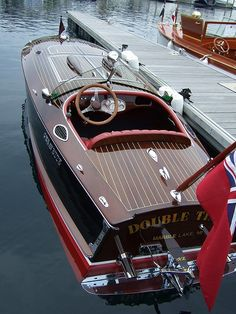 I love these gorgeous old wooden boats - this time a Chris Craft.