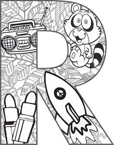 Lettre R travail mandala - ilkokul etkinlik - # . Coloring Letters, Abc Coloring Pages, Alphabet Coloring, Coloring Sheets, Coloring Books, Mandala Drawing, Mandala Art, Preschool Letters, Preschool Activities