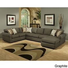 Keaton Chenille Eco-Friendly Sectional Sofa | Overstock.com