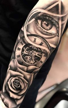 Image may contain: one or more people and closeup Chicano Tattoos Sleeve, Forarm Tattoos, Cool Forearm Tattoos, Best Sleeve Tattoos, Tattoo Sleeve Designs, Arm Tattoos For Guys, Rose Tattoos, Leg Tattoos, Body Art Tattoos