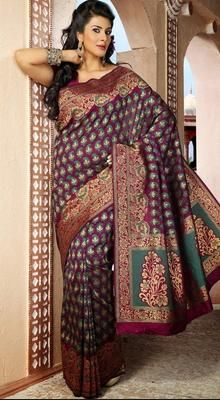 Alluring Deep Deep Pink Embroidered Saree
