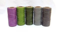 Macrame Cord - Polyester Cord- Wax Cord - Macrame Thread - Set of 5 Colors - 10 yards each - FAIRY