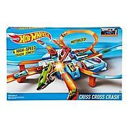 Hot Wheels Criss Cross Crash Track Set is extremely durable while remaining a very exciting toy. With 16 feet of track and various entertaining features this set will provide your children with hours of crashing and flipping fun.