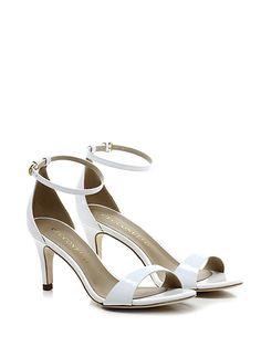Cecconello - Sandalo alto - Donna - Sandalo alto in vernice con cinturino alla caviglia. Tacco 70. - BIANCO - € 145.00
