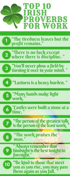 In honor of St. Paddy's Day, we've compiled a list of the wisest Irish Work Proverbs to help you find your Pot O' Gold! Irish Toasts, Irish Proverbs, Proverbs Quotes, Irish Language, Irish Eyes Are Smiling, Irish Pride, Irish Blessing, Irish Traditions, Thinking Day