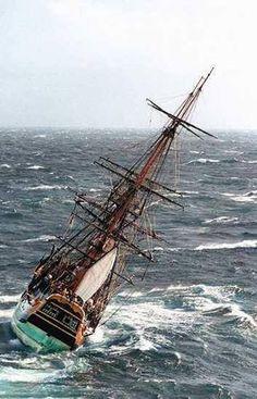 HMS Endeavour, 3-mâts carré britannique. 1764. Utilisé par J.Cook lors de sa première expédition.