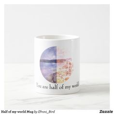 Half of my world Mug - Saint Valentine's Day gift idea couple love girlfriend boyfriend design Valentines Mugs, Valentine Day Gifts, Pink Gifts, Love Gifts, Customized Gifts, Personalized Gifts, Love Girlfriend, Saint Valentine, Custom Mugs