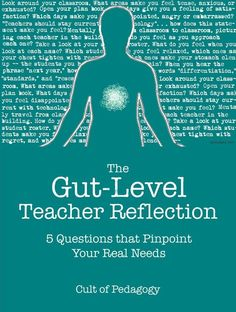 The Gut-Level Teacher Reflection: 5 Questions that Pinpoint Your Real Needs - It's easy to find good questions for reviewing accomplishments and setbacks, but to learn as much as possible from a reflection on your teaching, you have to let your gut talk, too.