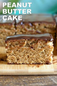 Peanut Butter Cake with Chocolate Peanut Butter Glaze. Easy 7 Ingredient Blender Cake. Ready in 25 minutes. Vegan Cake Recipe