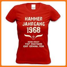 Modisches 49. Jahre Girlie Damen-Oberteil zum Geburtstag Hammer Jahrgang 1968 Farbe: rot Gr: L (*Partner Link)
