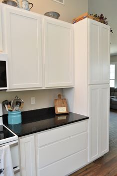 Bailey's Cabinets. BaileyTown USA, Maple, White finish, Chesapeake door style Kitchen Cabinetry, Baileys, White Cabinets, Design Firms, Kitchens, Usa, Home Decor, Style, Kitchen Cabinets