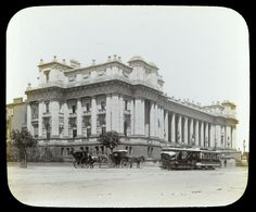 Parliament House, Spring Street, Melbourne, c1900. Photograph from State Library Victoria/ WH Ferguson.