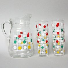 #French Spotty #Jug and #Glasses