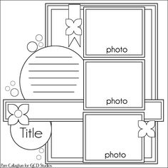 GCD Studios: It's Sketch Time with Pam. Scrapbooking template