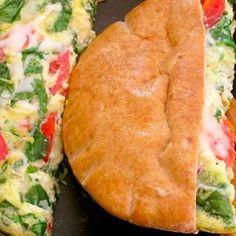 Delicious and quick Pita Pocket Breakfast Sandwich.