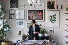 A behind the scenes shot of Anna setting up for our shoot with Design Sponge for their upcoming book, In the Company of Women.