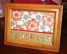 Flower Name Frame