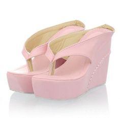 3b2641470f9 More ideas. Womens Platform Wedges High Heels Flip Flops ...