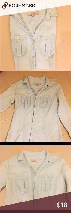 Loft light blue denim shirt Loft, denim shirt, light blue, slim fit LOFT Tops Tees - Long Sleeve