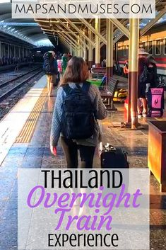 Considering traveling by overnight train on your trip to Thailand? Check out my tips and my Thailand overnight train experience here: https://www.mapsandmuses.com/thailand-overnight-train-experience/ | Asia Travel | Thailand Travel | Overnight Train Travel | Chiang Mai Thailand | Bangkok Thailand | Travel Tips | Budget Travel Tips