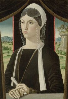 attributed to Master Baldraccani (active c.1480 - 1510):  Portrait of an unknown Lady