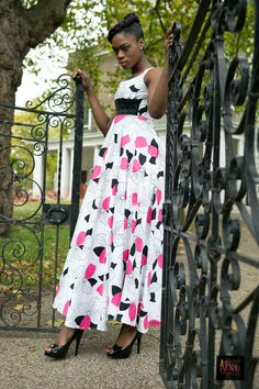 Handmade pure cotton super flare floral maxi by BoutiqueDeLAfrique on Etsy High End Fashion, Floral Maxi, Every Woman, Fashion Brand, Boutique, Ball Gowns, Flare, Cotton, How To Wear