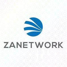Exclusive Customizable Sphere Logo For Sale: Zanetwork | StockLogos.com