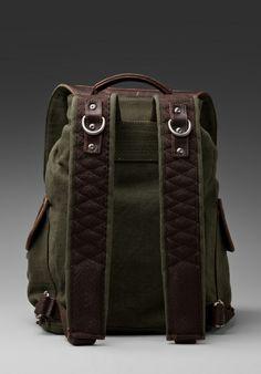 Will Leather Goods Lennon Rucksack in Lodenespresso in Green (loden & espresso)   Lyst