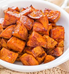 Honey Roasted Sweet Potatoes with Honey-Cinnamon Dip | 17 Thanksgiving Side Dishes For A Joyous Celebration | These Hearty and Really Delicious Recipes are a Must On Your Table This Holiday! Check it out at http://homemaderecipes.com/thanksgiving-side-dishes/