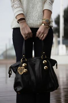 Love the bag and jewelry.