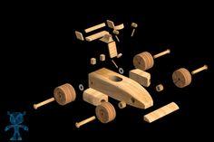 Racer Car Wooden Toy - Autodesk 3ds Max, Parasolid, OBJ, SketchUp, STL, STEP / IGES, SOLIDWORKS, Other - 3D CAD model - GrabCAD