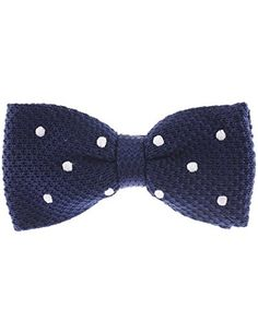 FLATSEVEN Mens White Dot Point Knit Bow Tie Bowtie Pre-Tied (YB504) Navy FLATSEVEN http://www.amazon.com/dp/B00L59GBD0/ref=cm_sw_r_pi_dp_S5Y1ub1H1WSQF