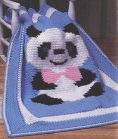 Panda Afghan Crochet Pattern