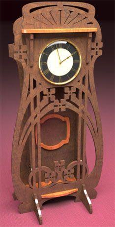 Bristol clock, scroll saw fretwork pattern of a late art nouveau style clock