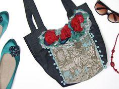 Manualidades y Artesanías | Bolsa con flores | Utilisima.com