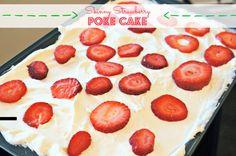 Skinny Strawberry Poke Cake Spoons of Grace