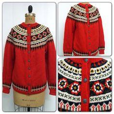 Fair Isle Norwegian Wool Sweater Norwegian Knitting, Norwegian Christmas, Fair Isle Knitting, Knitting Charts, Metal Buttons, Christmas Sweaters, Christmas Time, Wool Sweaters, Knitwear