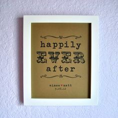 cupcake table, gift table or bar? - HAPPILY EVER AFTER Rustic Wedding Sign  by PurplePeonyCouture, $10.00