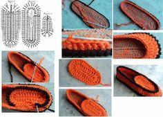 2 Pantuflas diferentes de Crochet.Tutos - Patrones Crochet