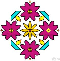 Indian Rangoli, Rangoli Designs, Dots, Embroidery, Flowers, Stitches, The Dot, Drawn Thread, Royal Icing Flowers