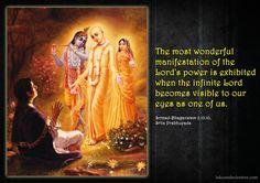 Srila Prabhupada on Manifestation of The Lord's Power Krishna Lila, Krishna Krishna, Lord Krishna, Geeta Quotes, Full Quote, Srila Prabhupada, Krishna Quotes, Bhagavad Gita, God Pictures