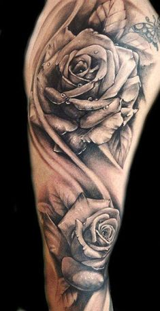 Rose Tattoos - Meaning & Symbolism of Rose Tattoos | How to Tattoo? I think if I could ever get a sleeve I would probably do a flower sleeve, with many different kinds of flowers..
