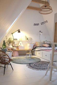 Emmas Dachzimmer # Kinderzimmer # skandinavisch # g - Mode Schmuck Trends - - Baby Bedroom, Baby Room Decor, Girls Bedroom, Bedroom Decor, Bedroom Couch, Bedroom Dressers, Design Bedroom, Bedroom Colors, Bedroom Furniture