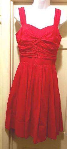 LOVELY Vivian Diamond Short Red Cotton Voille Party/Cocktail Dress 10, Orig $210  | eBay