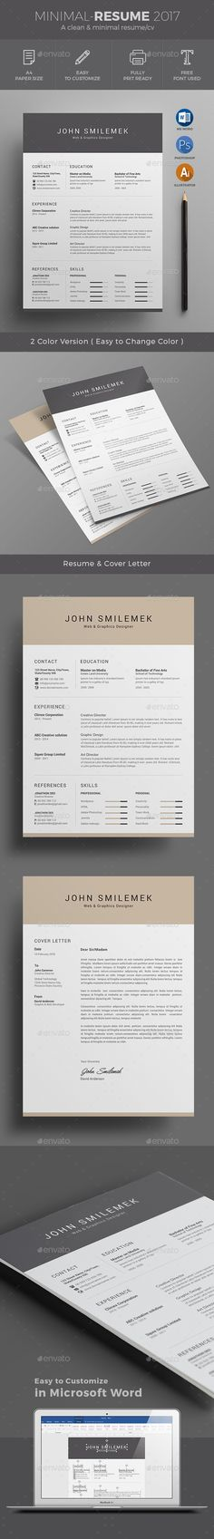 Resume Word Resume template download, Modern resume template and - resume for word